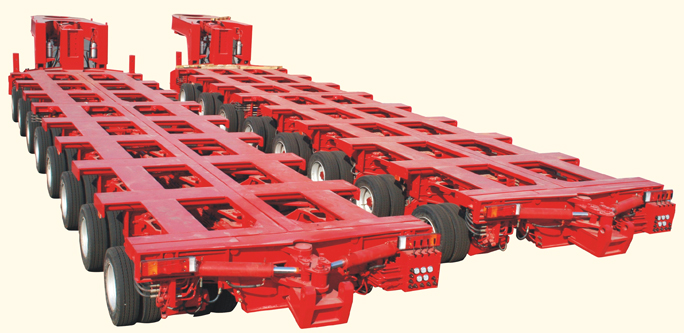 Hydraulic trailer with Gooseneck-A type